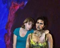 用人体做画布的立体油画 另类的人物摆拍摄影